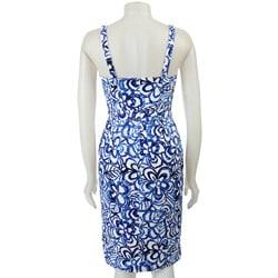 FINAL SALE Anne Klein Women's Grecian Floral Sheath Dress - Thumbnail 1