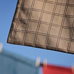 Dobby Windowpane 420 Thread Count Egyptian Cotton Sheet Set - Thumbnail 1