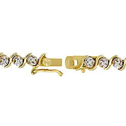DB Designs 18k Gold over Sterling Silver Diamond Accent Tennis Bracelet