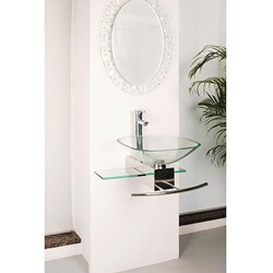 Contemporary Wall-mount Glass Waterfall Sink - Thumbnail 1