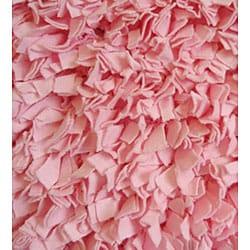 Soft Cotton Pink Shag Rug (4'7 x 7') - Thumbnail 1
