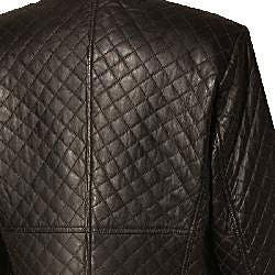 Austin Reed Women S Quilted Leather Jacket Overstock 4084717