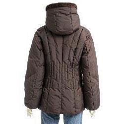 Larry Levine Women's Hooded Down Jacket - Thumbnail 1