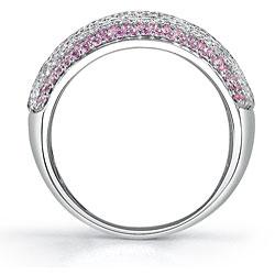 18k Gold 1 1/2ct TDW Diamond/ Pink Sapphire Ring (G, VS2) (Size 7.5) - Thumbnail 1
