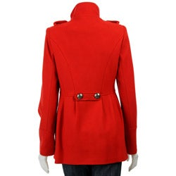 Miss Sixty Women's Military-style Wool Coat - Free Shipping Today ...