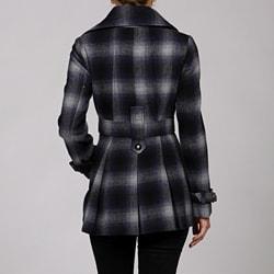 Miss Sixty Women's Belted Wool Blend Coat - Thumbnail 1
