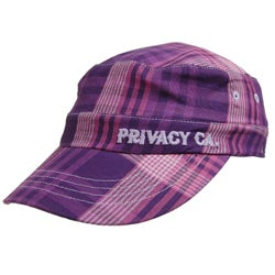 Privacy Wear Women's Plaid Military Cap - Thumbnail 1