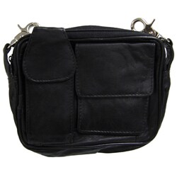 Journee Collection Women's Leather Mini Carry-all - Thumbnail 1