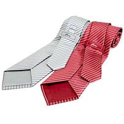 Brioni Thin Stripe Silk Necktie - Thumbnail 1