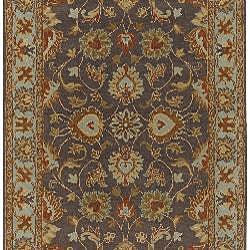 Hand-tufted Spa/ Brown Wool Rug (5' x 8') - Thumbnail 1
