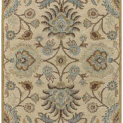 Hand-tufted Coliseum Wool Rug (6' Square) - Thumbnail 1