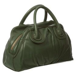 Presa 'Bella' Large Leather Double Handle Satchel