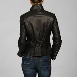 Collezione Women's Lambskin Cycle Jacket - Thumbnail 1