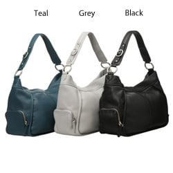 Presa 'Holbrook' Leather Side-zip Hobo-style Bag