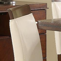 Lancaster White Faux Leather Counter Height Stool (Set of 2) - Thumbnail 1