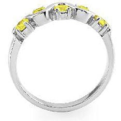14k Gold 1/2ct TDW Yellow Diamond Round-cut Ring (Size 7) - Thumbnail 1