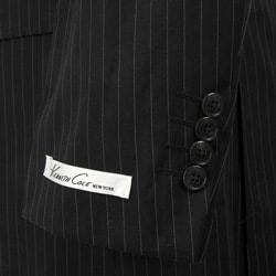 Kenneth Cole Slim Collection Men's Black Pinstripe Suit - Thumbnail 1