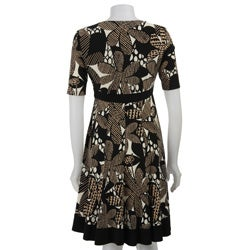 Jones New York Matte Women's Floral Collage Jersey Dress - Thumbnail 1