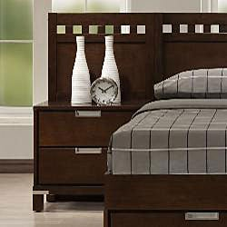 Noho Warm Cherry Queen-size Platform Wall Bed Bedroom Set - Thumbnail 1