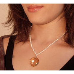 Sterling Silver FW Pearl/ Austrian Crystal Necklace (USA)