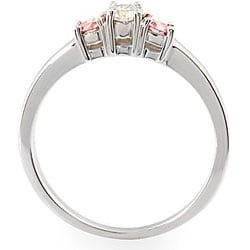 14k Gold 1/3ct TDW White and Pink Diamond Ring (H, SI1) (Size 6.75)