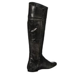 Steven by Steve Madden Women's 'Sander' Distressed Knee-high Boots