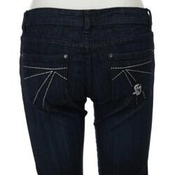 Spoon Jeans Junior's Dark Rinse Skinny Jeans - Thumbnail 1