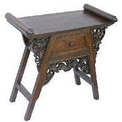 Hand-carved Teak Wood Floral Console Table (Thailand ...