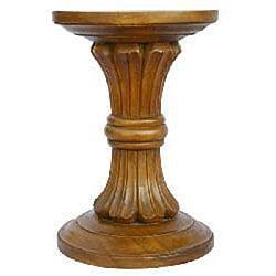 Handmade Acacia Wood Flared Column End Table (Thailand)