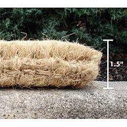 Black Wrought Iron Border Coconut Fiber Extra-thick Door Mat (1'6 x 2'6) - Thumbnail 1