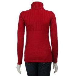 Carol Rose Women's Cable Knit Turtleneck Sweater
