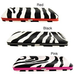 H2W Brand Zebra Print Women's Hardcover Wallet