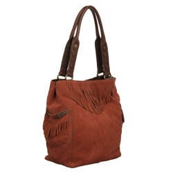 Lucky Brand '1968' Suede Fringed Tote - Thumbnail 1
