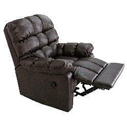 ProLounger Renu Leather Brown Wall Hugger Theater Recliner Chair - Thumbnail 1