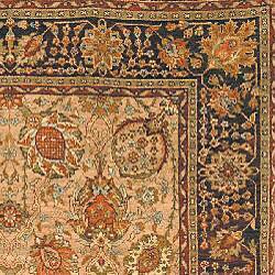 Heirloom Hand-knotted Kashan Camel Wool Rug (6' x 9') - Thumbnail 1