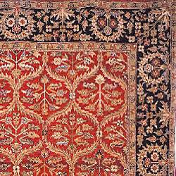 Heirloom Hand-Knotted Treasures Kerman Wool Area Rug (6' x 9') - Thumbnail 1