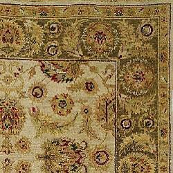 Heirloom Treasures Hand-knotted Ivory Wool Rug (6' x 9') - Thumbnail 1