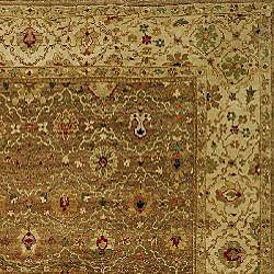 Heirloom Treasures Hand-knotted Beige Wool Rug (9' x 12') - Thumbnail 1
