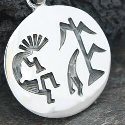 Sterling Silver Kokopelli Design Pendant (Mexico) - Thumbnail 1