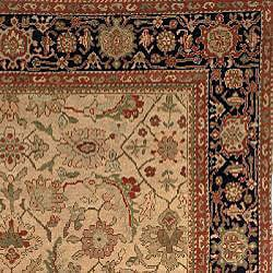 Oushak Hand-knotted Hand-spun Wool Heirloom Rug (8' x 10') - Thumbnail 1