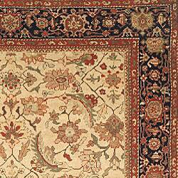 Oushkar Hand-knotted Wool Heirloom Ivory/ Blue Rug (9' x 12') - Thumbnail 1