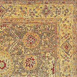 Oushak Legacy Hand-knotted Green/ Gold Wool Rug (9' x 12') - Thumbnail 1
