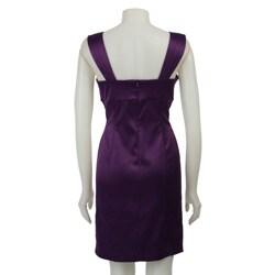 Ronni Nicole Women's Square Neck Satin Dress