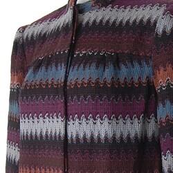 W.D.N.Y. Women's Multicolor Knit Jacket - Thumbnail 1