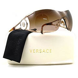 Versace Rimless Sunglasses  versace ve 2086 women s rimless wrap sunglasses free shipping