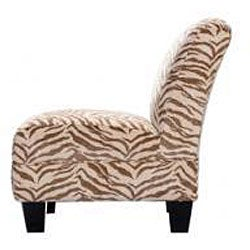 Slipper Chair Zebra Beige Free Shipping Today