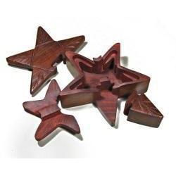 Wooden Fair Trade Star Puzzle Box (India)