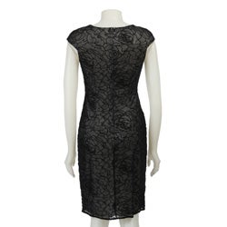 David Meister Women's Velvet Dress - Thumbnail 1