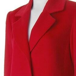 Jonathan Michael by Adi Women's Full-length Red Wool Coat