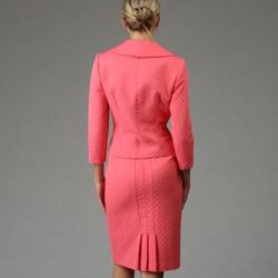 Tahari ASL Women's Coral Jacquard Skirt Suit - Thumbnail 1